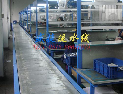 浙江温岭市浦头工业区  该类板链线由钢结构导轨和